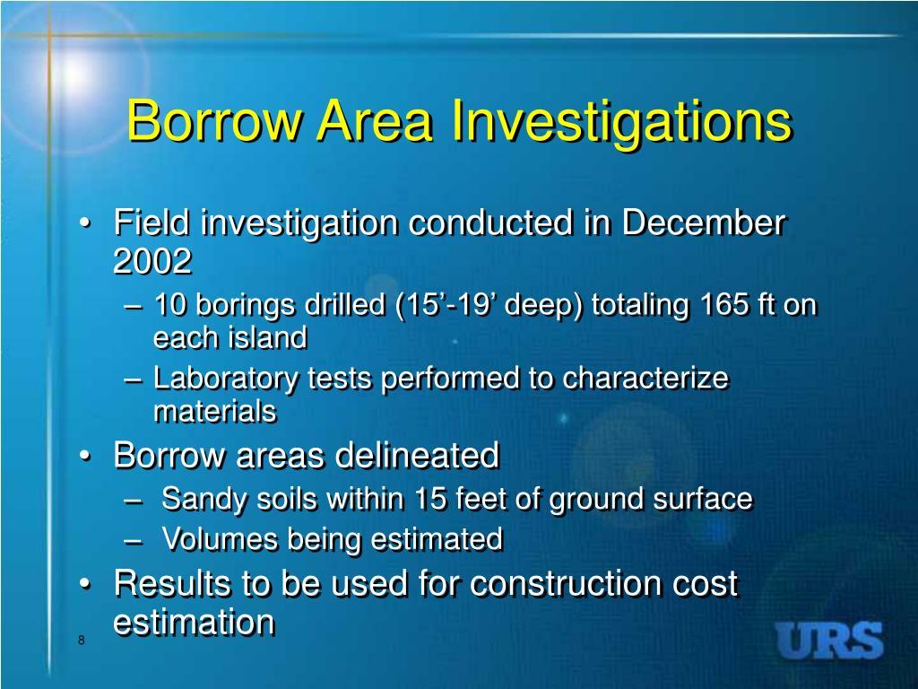 Borrow Area Investigations
