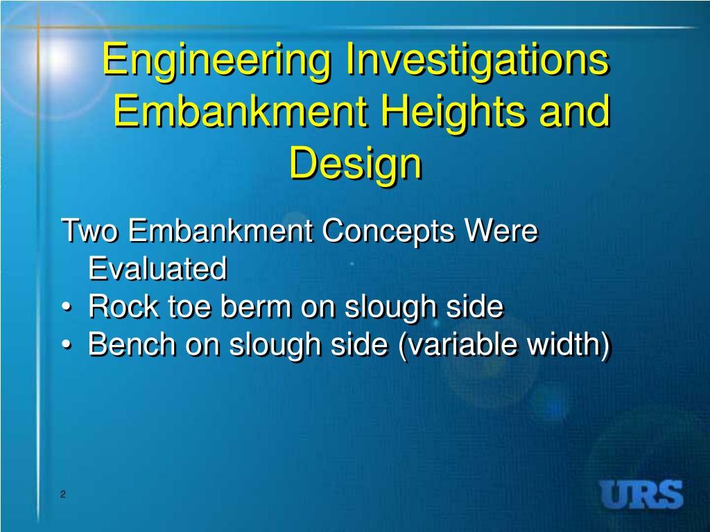 Engineering Investigations