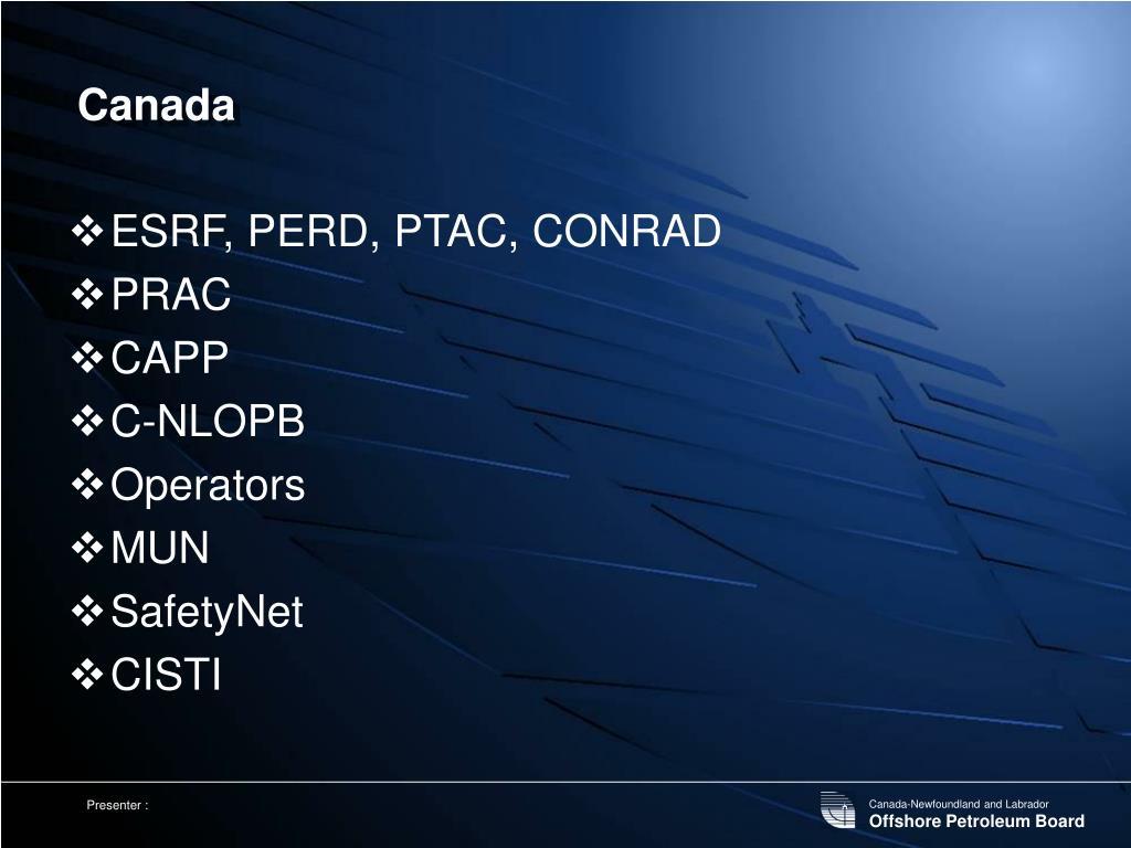 ESRF, PERD, PTAC, CONRAD