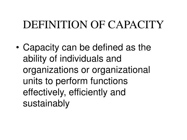 Definition of capacity l.jpg