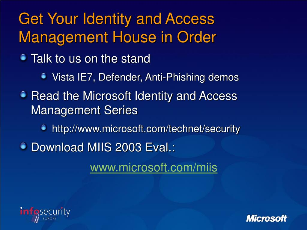 Get Your Identity and Access Management House in Order