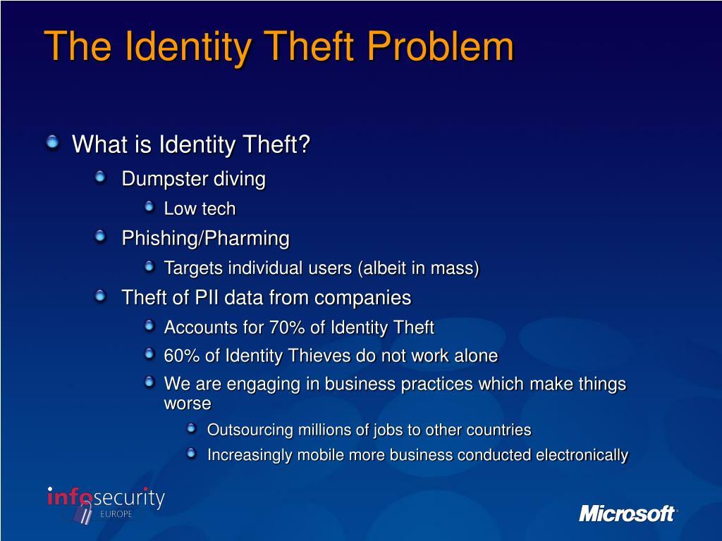 The Identity Theft Problem