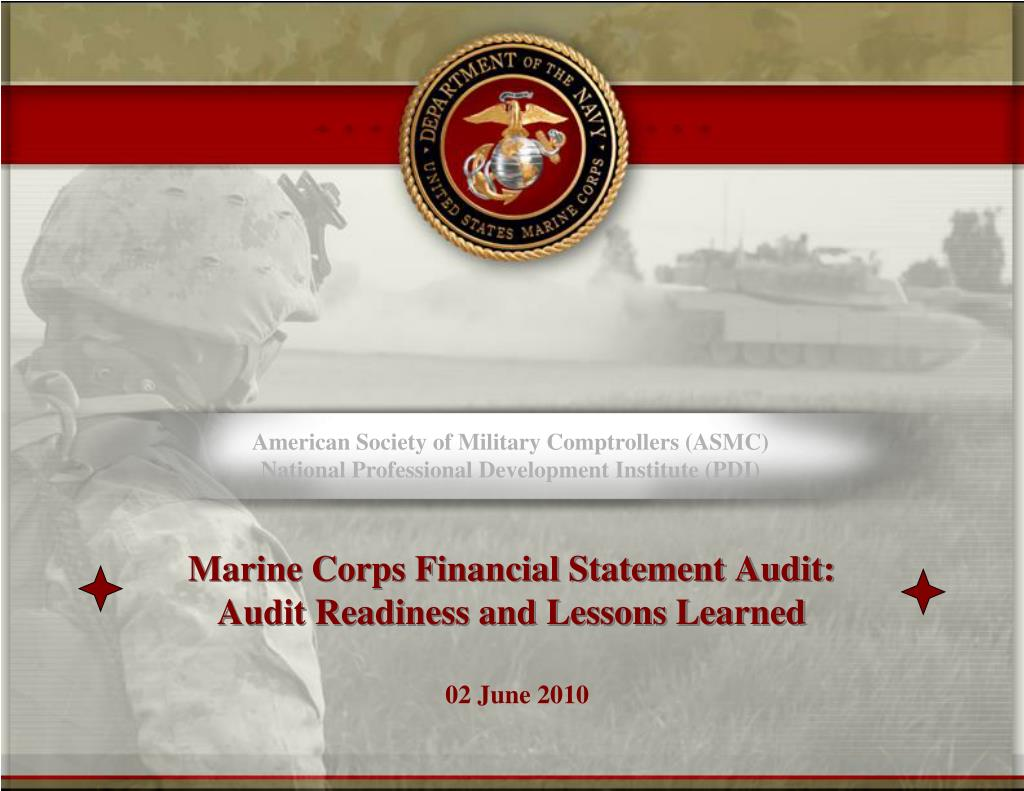 Ppt marine corps financial statement audit audit for Marine corps powerpoint template