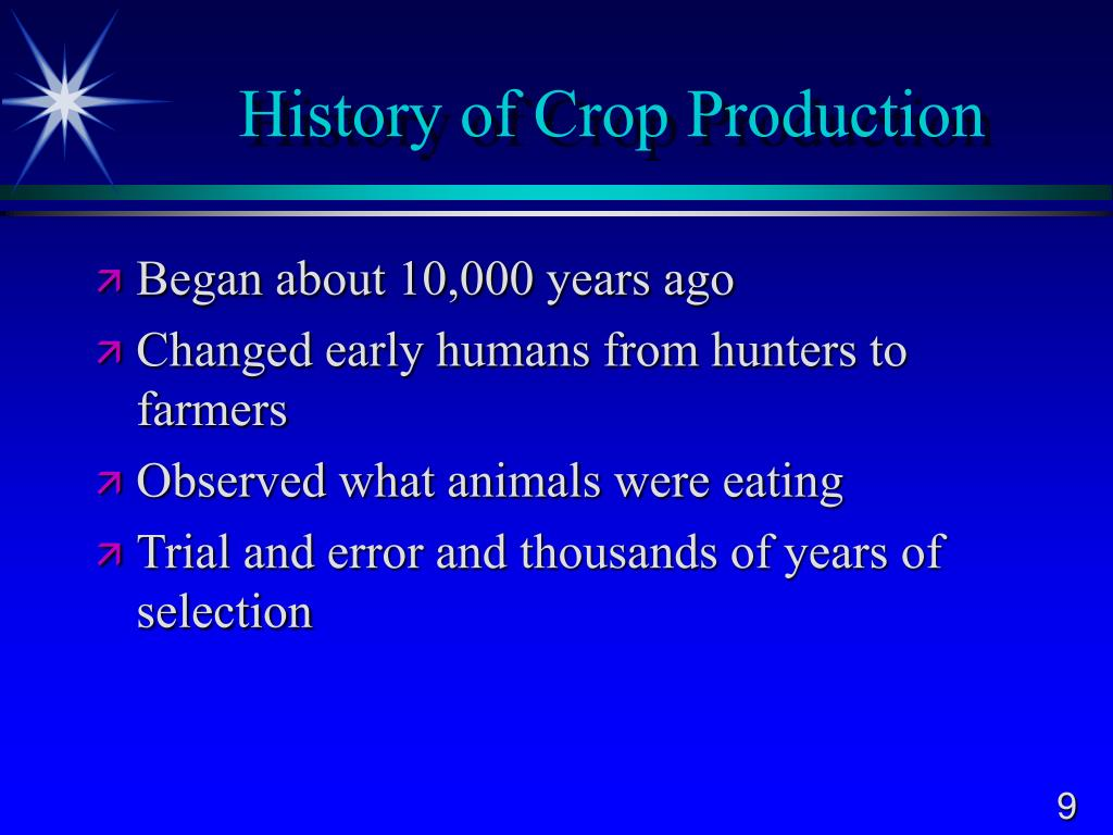 History of Crop Production