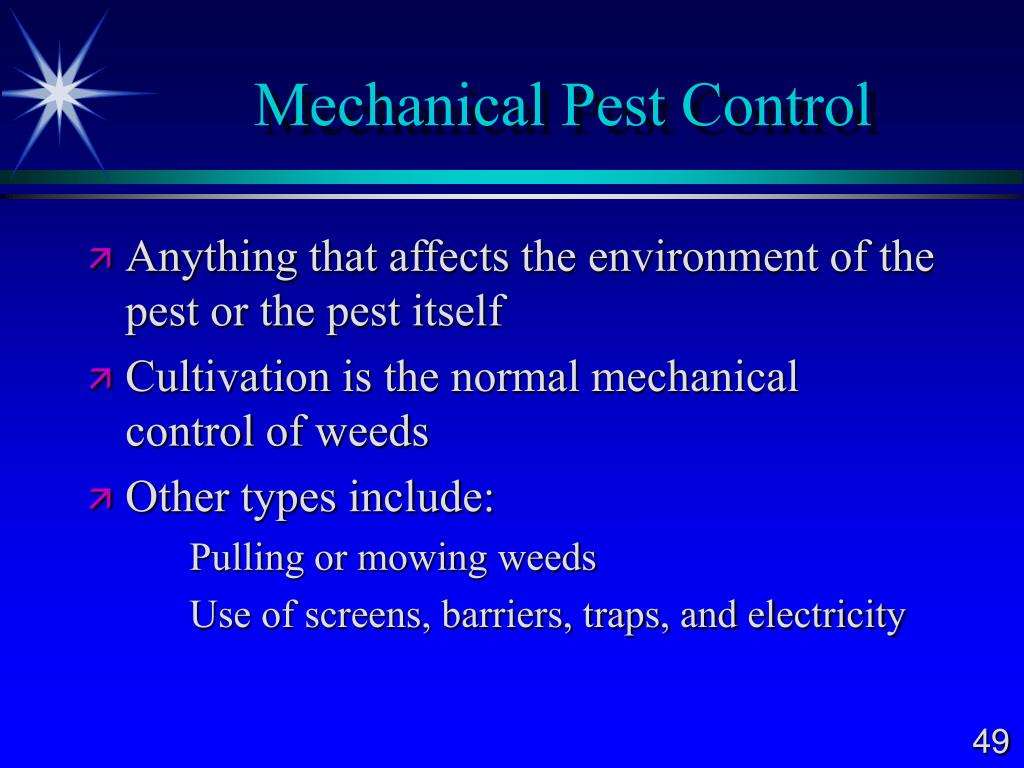 Mechanical Pest Control