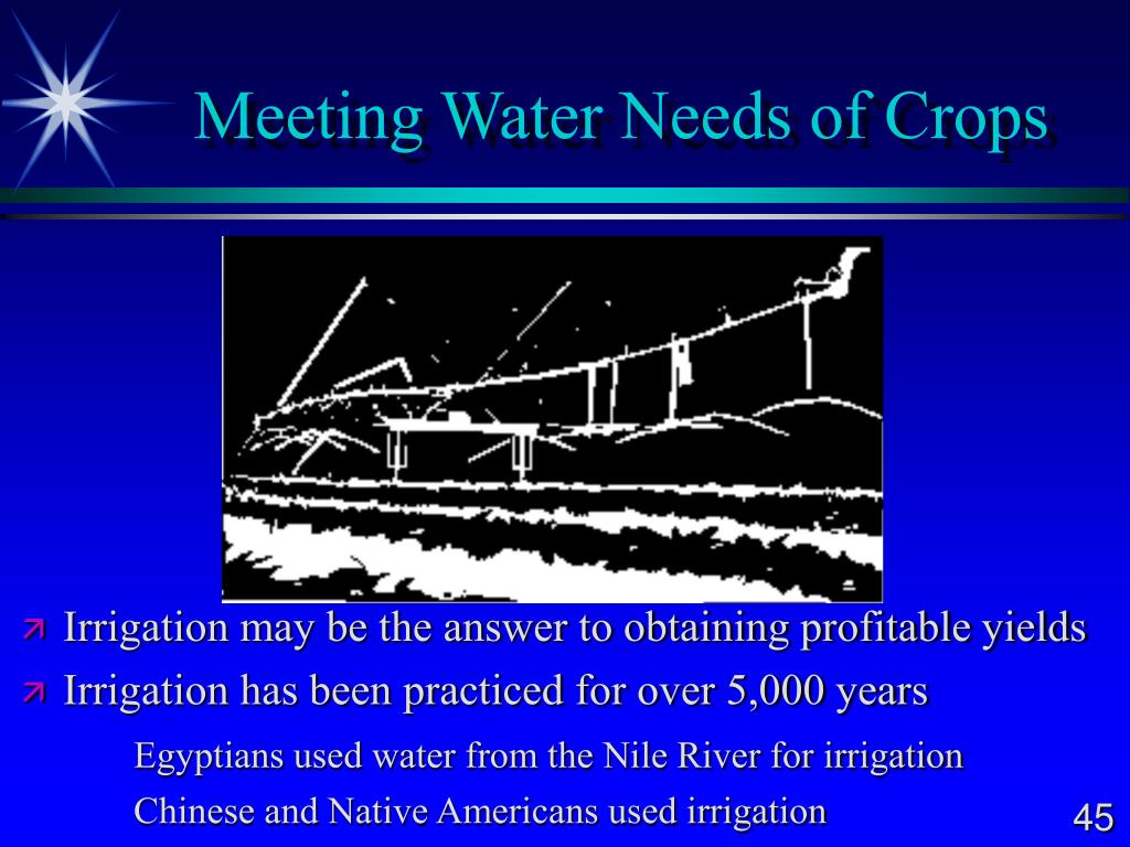 Meeting Water Needs of Crops