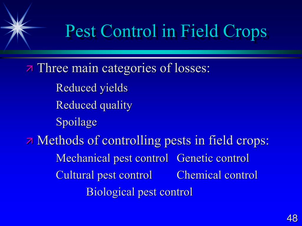 Pest Control in Field Crops