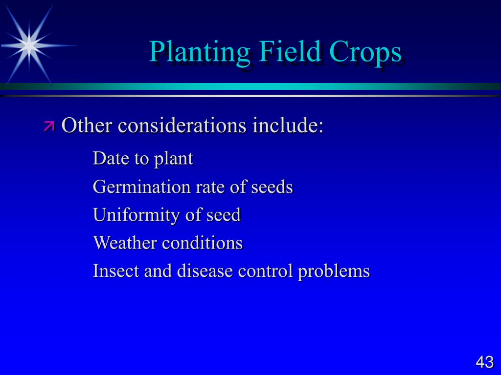 Planting Field Crops