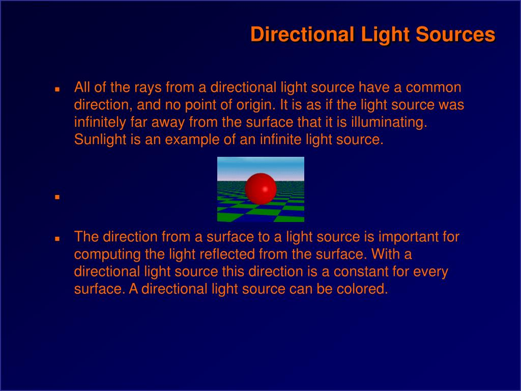 Directional Light Sources