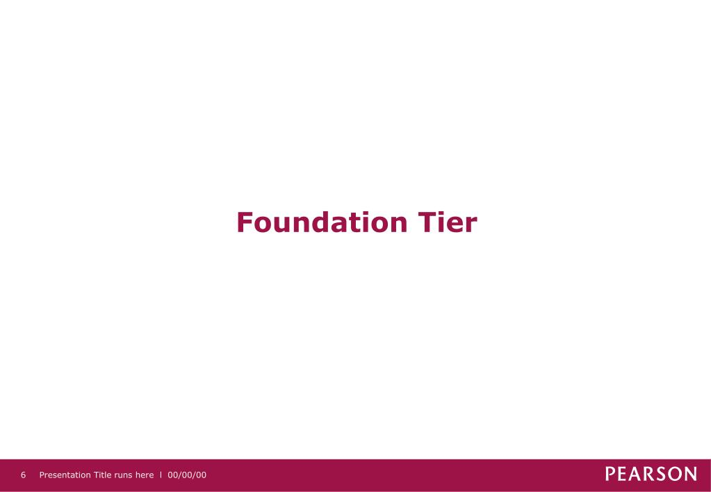 Foundation Tier