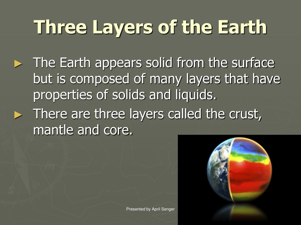 Three Layers of the Earth