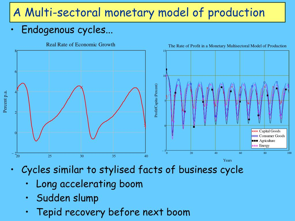 A Multi-sectoral monetary model of production