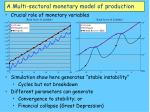 a multi sectoral monetary model of production35