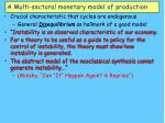 a multi sectoral monetary model of production36