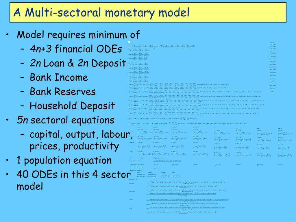 A Multi-sectoral monetary model