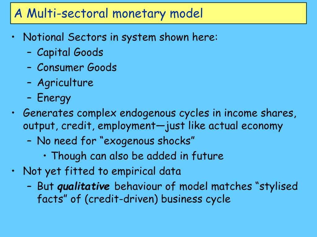 A Multi-sectoral monetary model