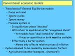 conventional economic models