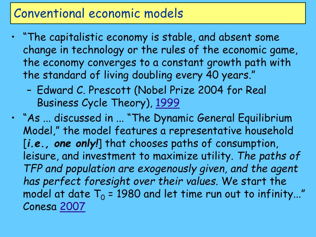 Conventional economic models