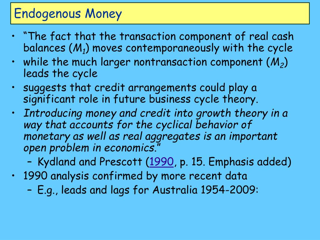 Endogenous Money