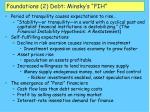 foundations 2 debt minsky s fih17