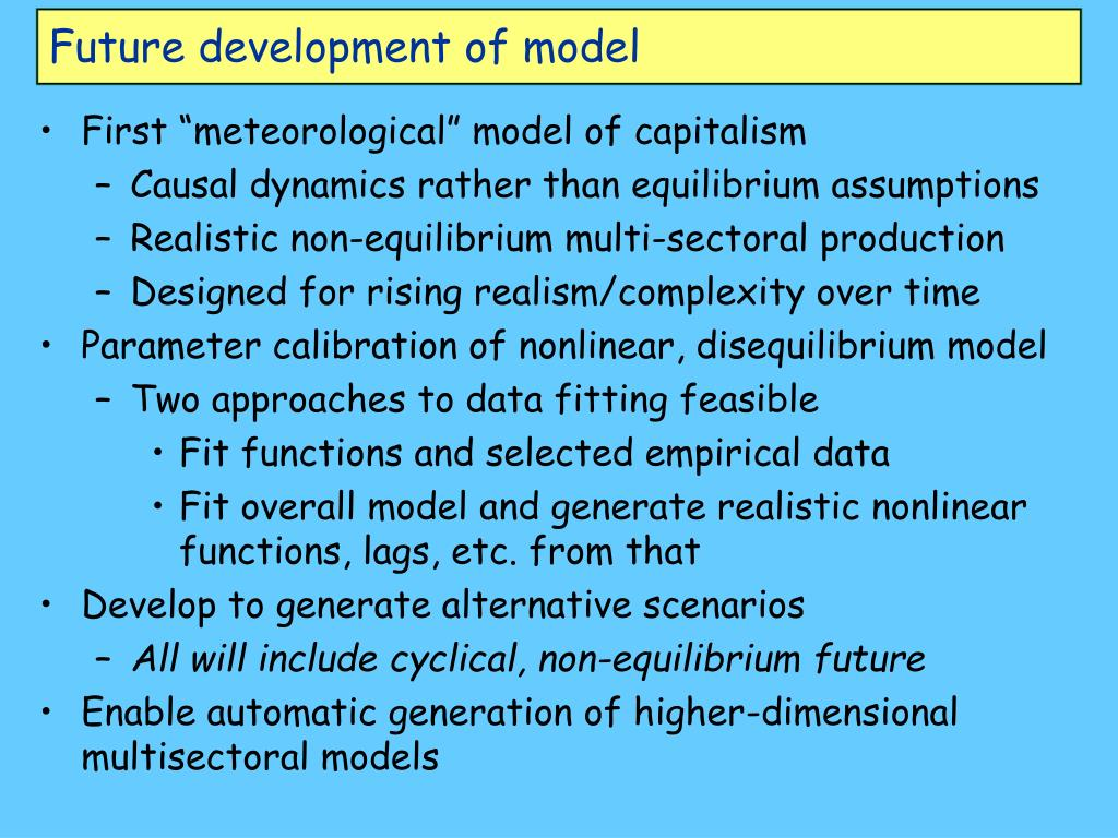 Future development of model