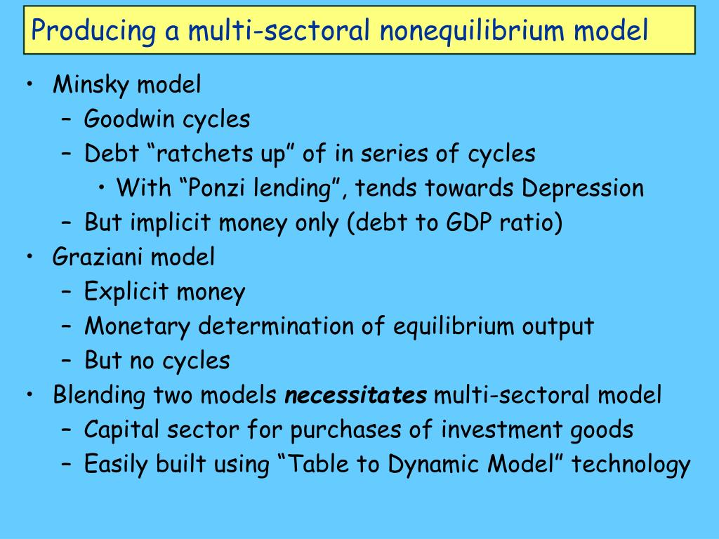 Producing a multi-sectoral nonequilibrium model