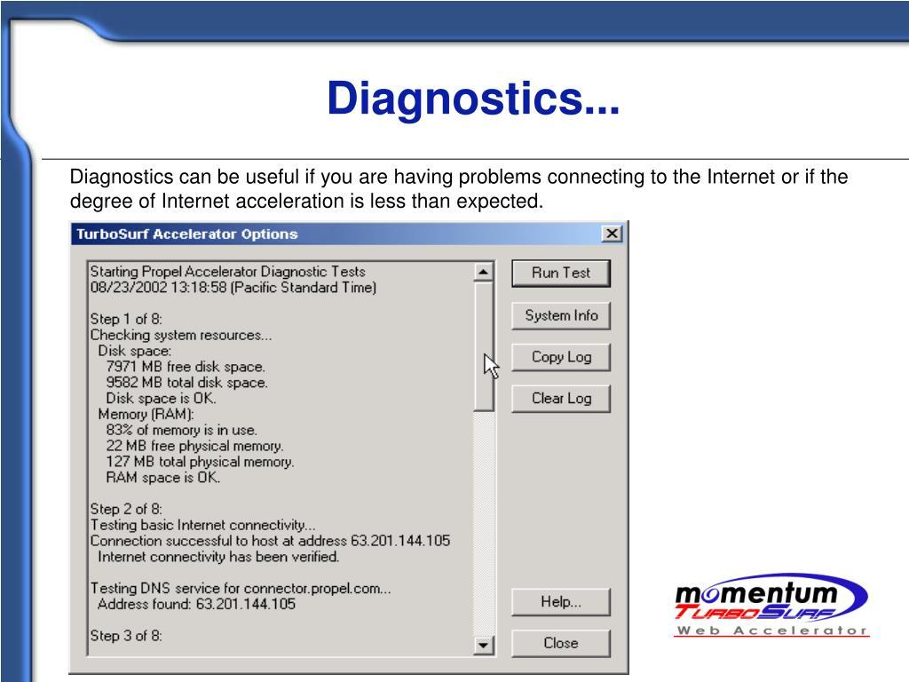 Diagnostics...