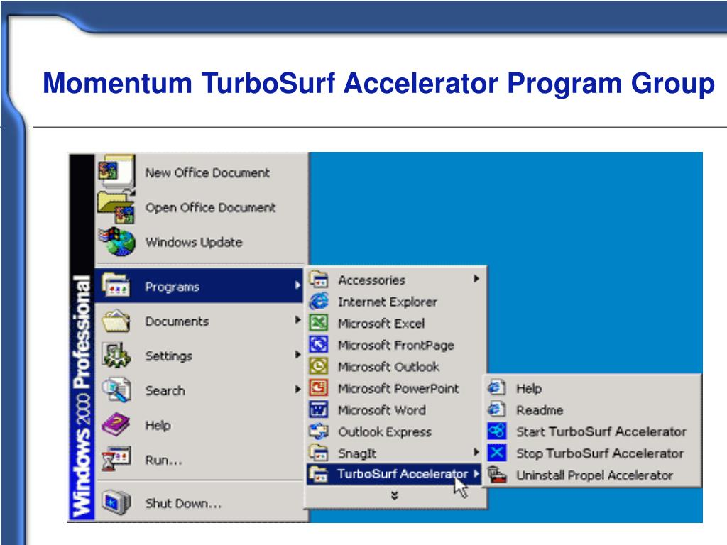 Momentum TurboSurf Accelerator Program Group