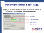 performance meter test page