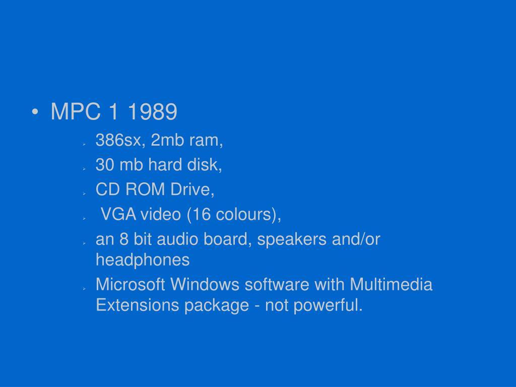 MPC 1 1989
