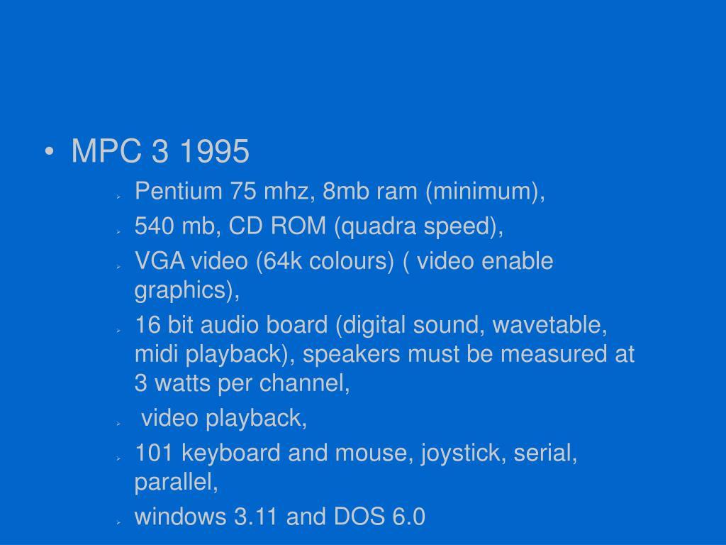 MPC 3 1995