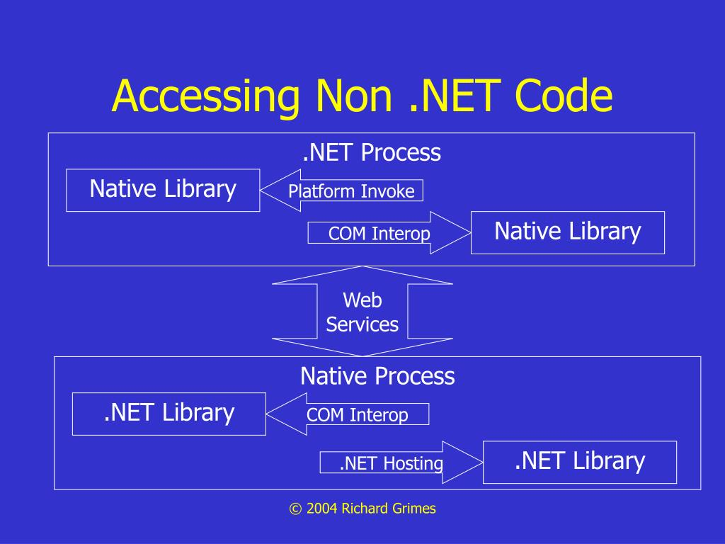 Accessing Non .NET Code