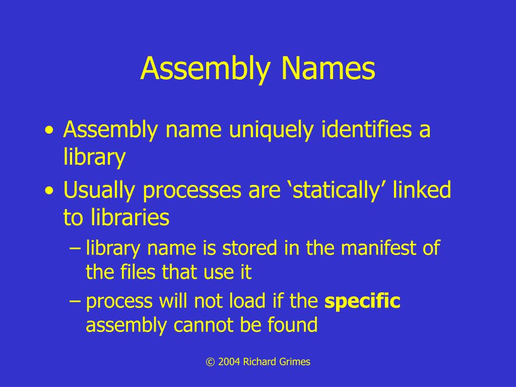 Assembly Names
