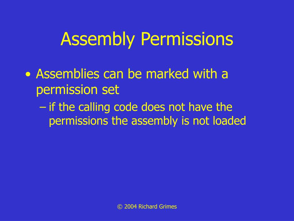 Assembly Permissions