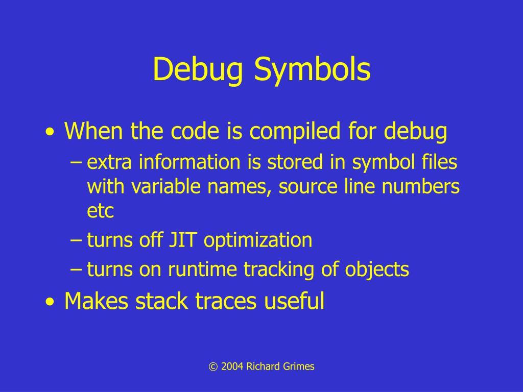 Debug Symbols