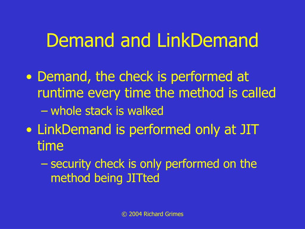 Demand and LinkDemand