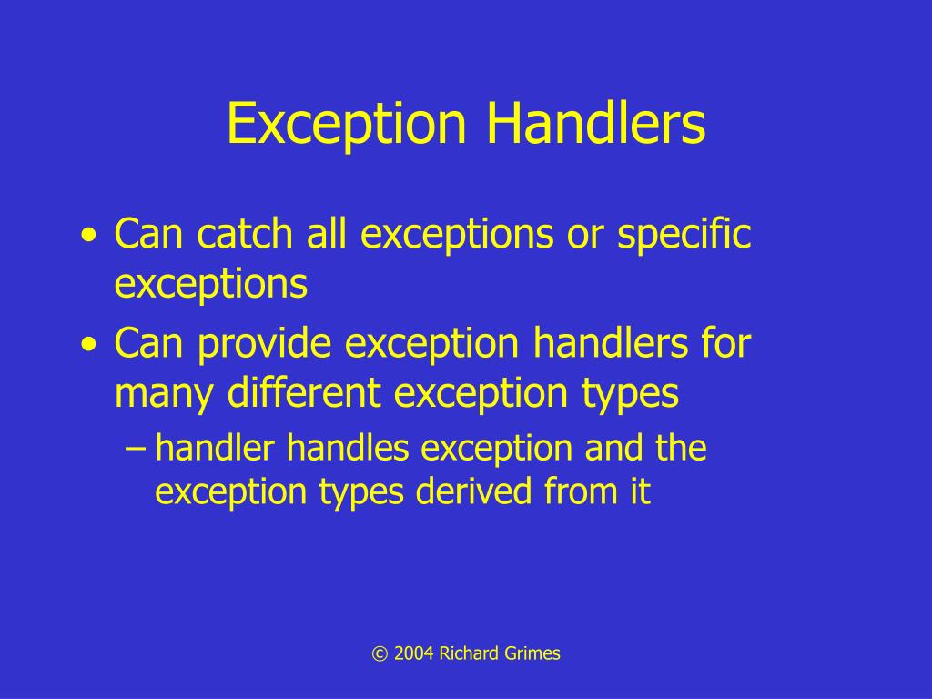 Exception Handlers