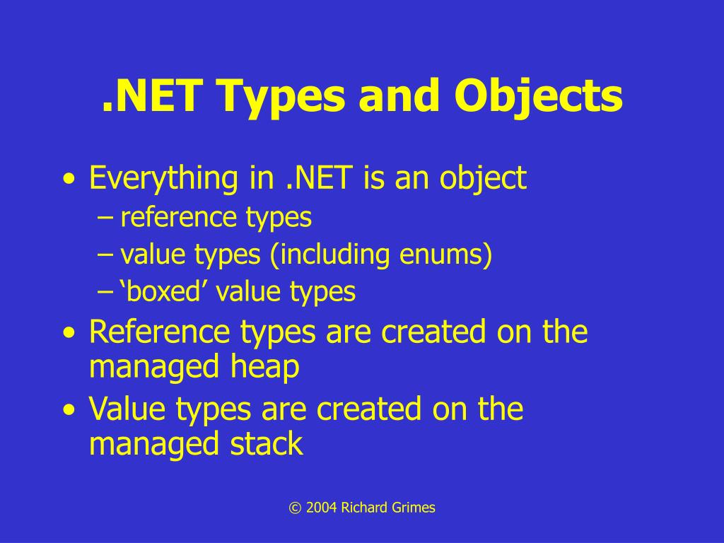 .NET Types and Objects