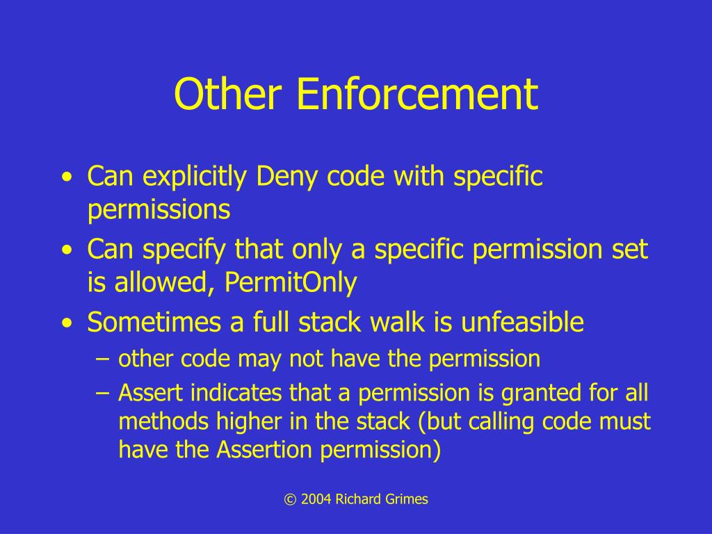 Other Enforcement