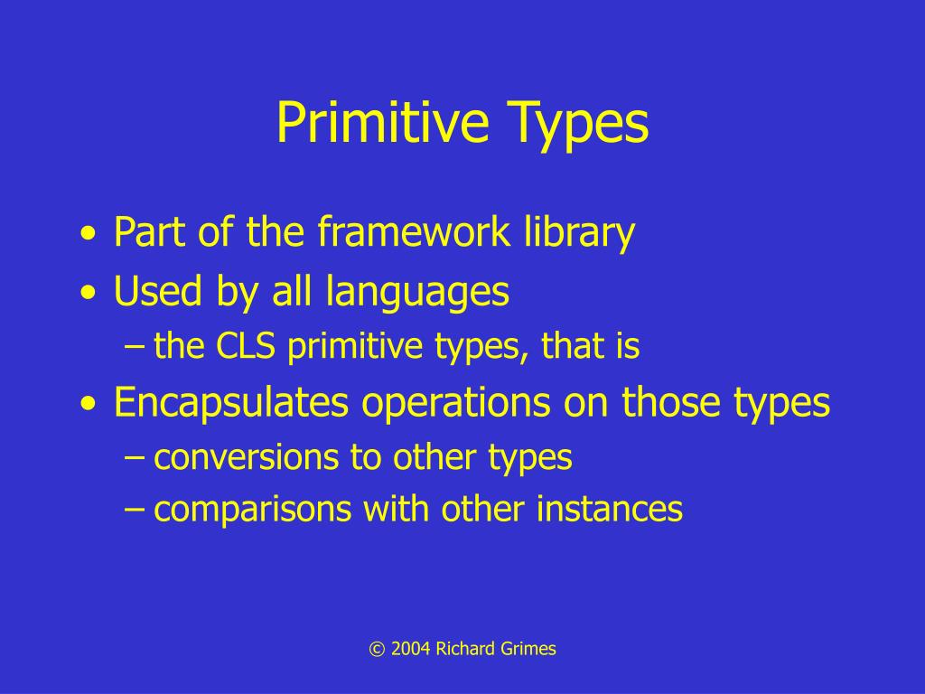 Primitive Types