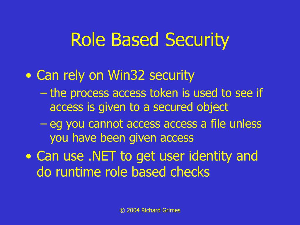 Role Based Security