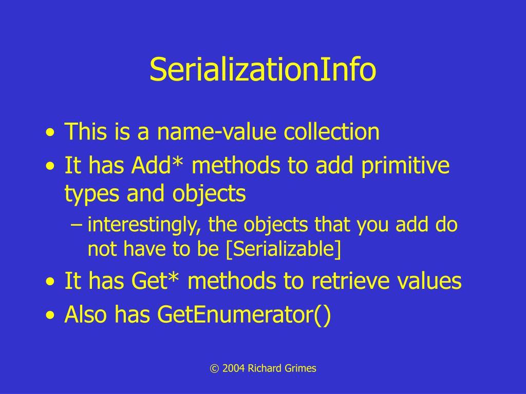 SerializationInfo