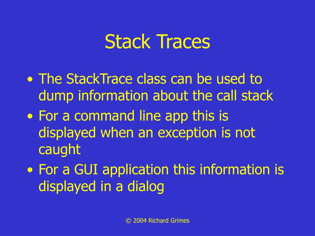 Stack Traces