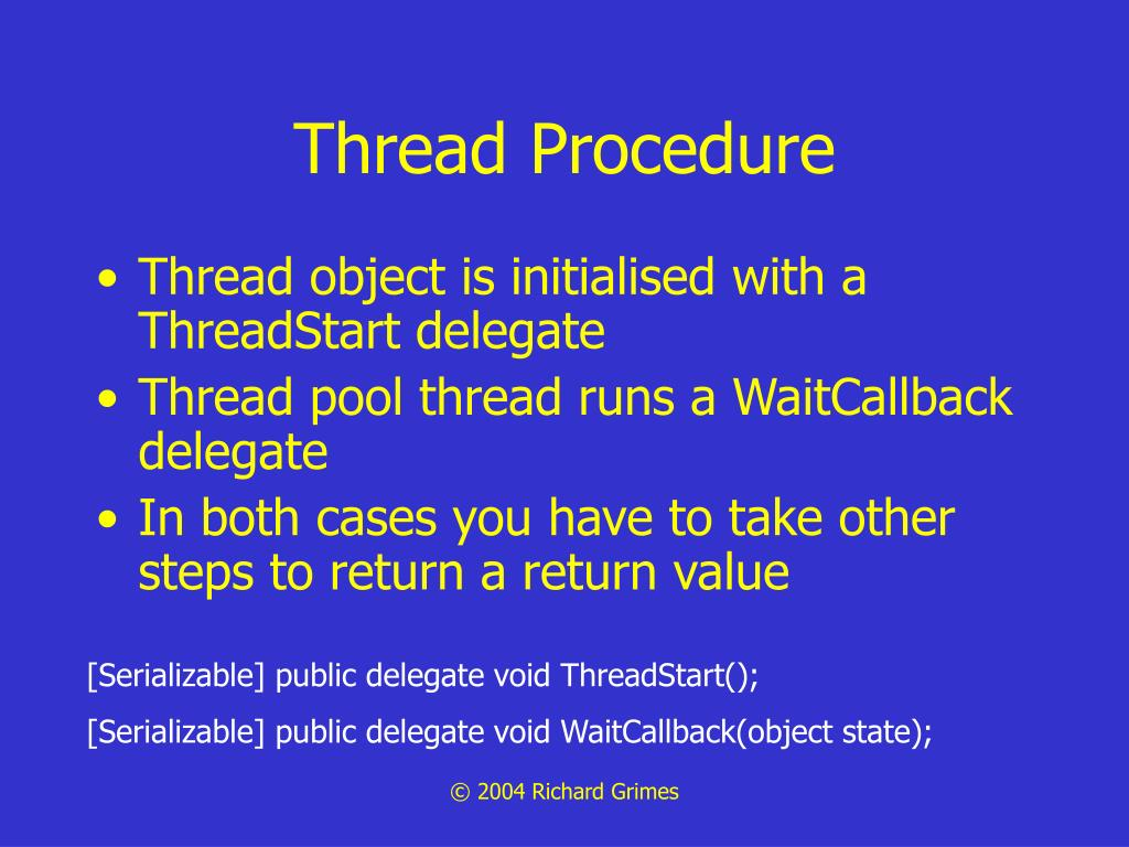 Thread Procedure