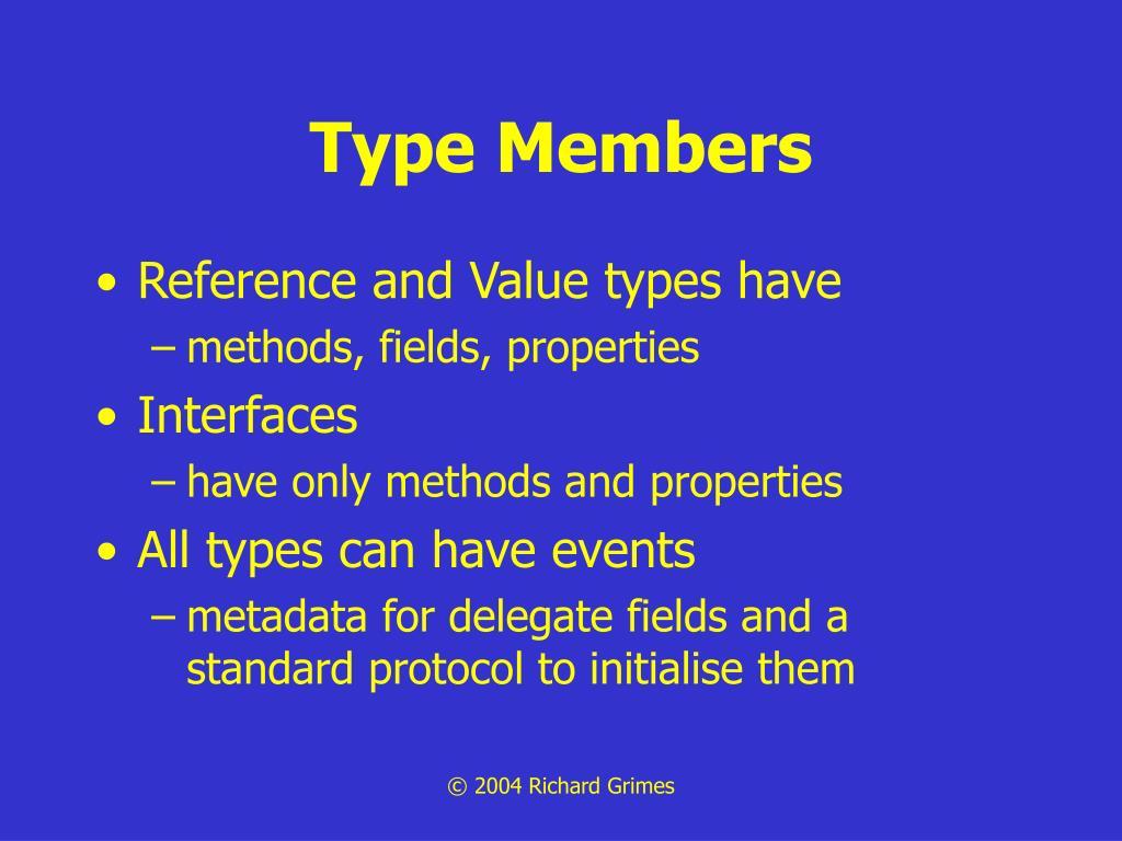 Type Members