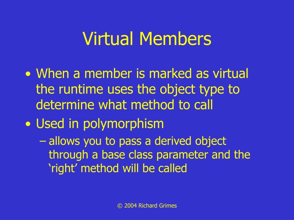 Virtual Members