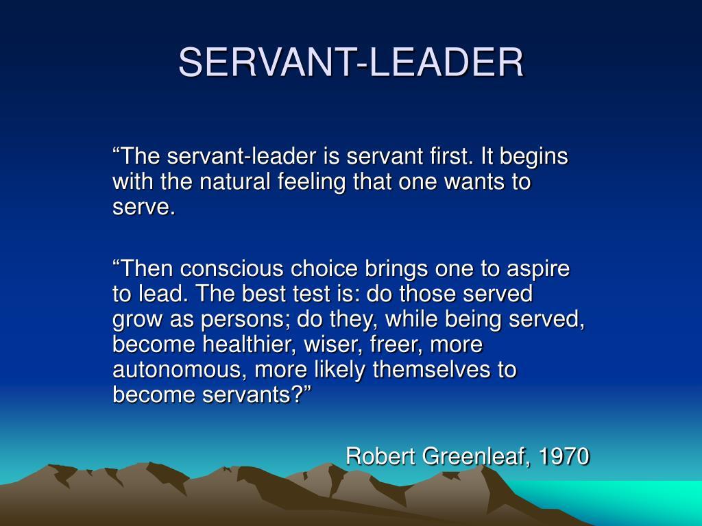 SERVANT-LEADER