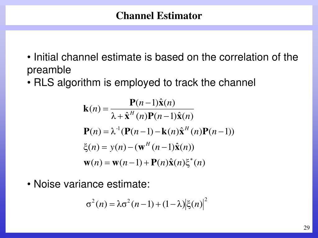 Channel Estimator