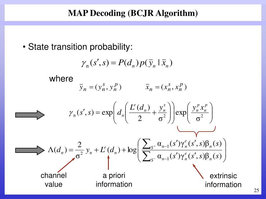 MAP Decoding (BCJR Algorithm)