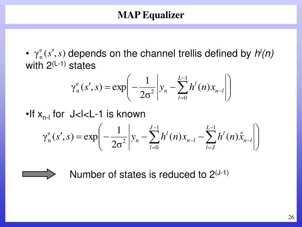 MAP Equalizer